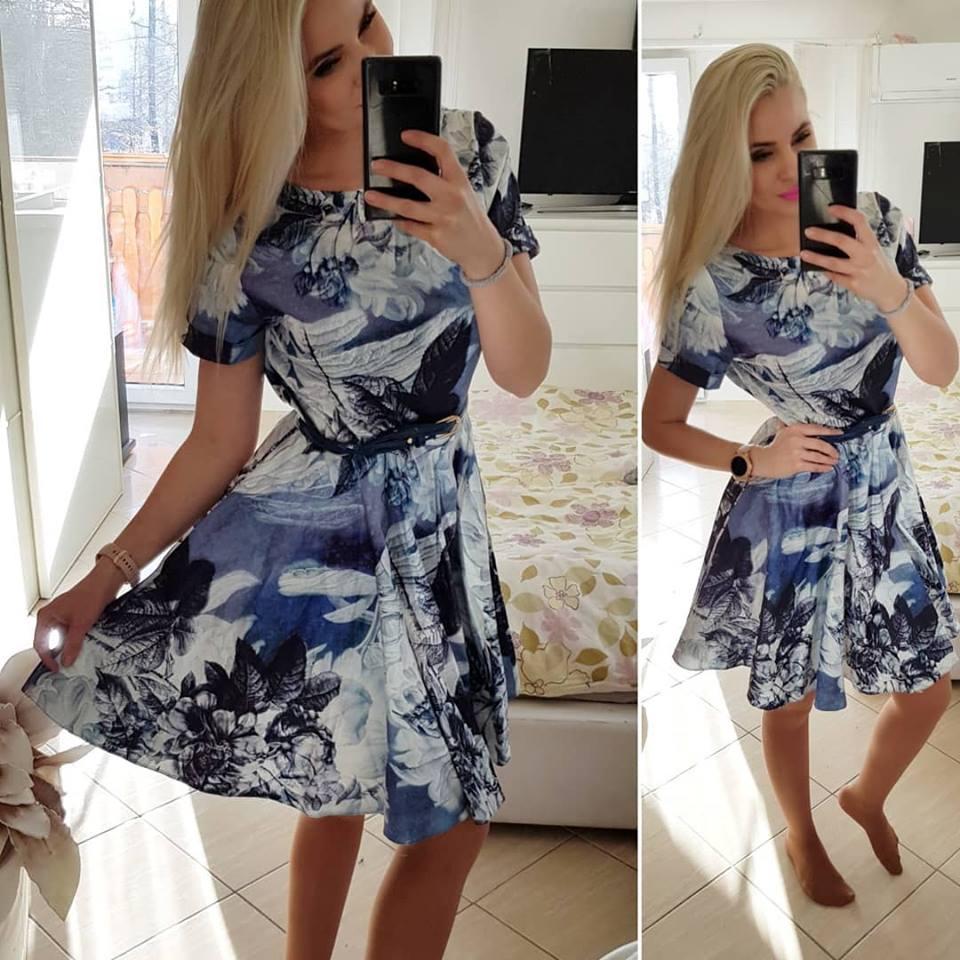 602f4e51c7a Výprodej - sleva - koktejlové šaty 30 - barevný vzor