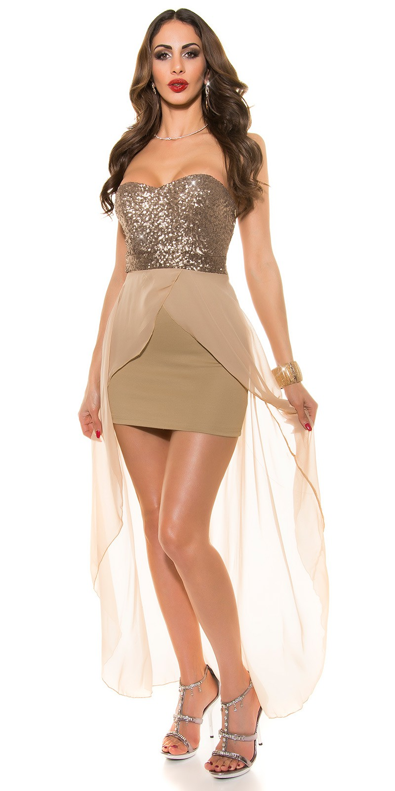 Výprodej - sleva - plesové šaty SELENA polodlouhé  2dff3728950