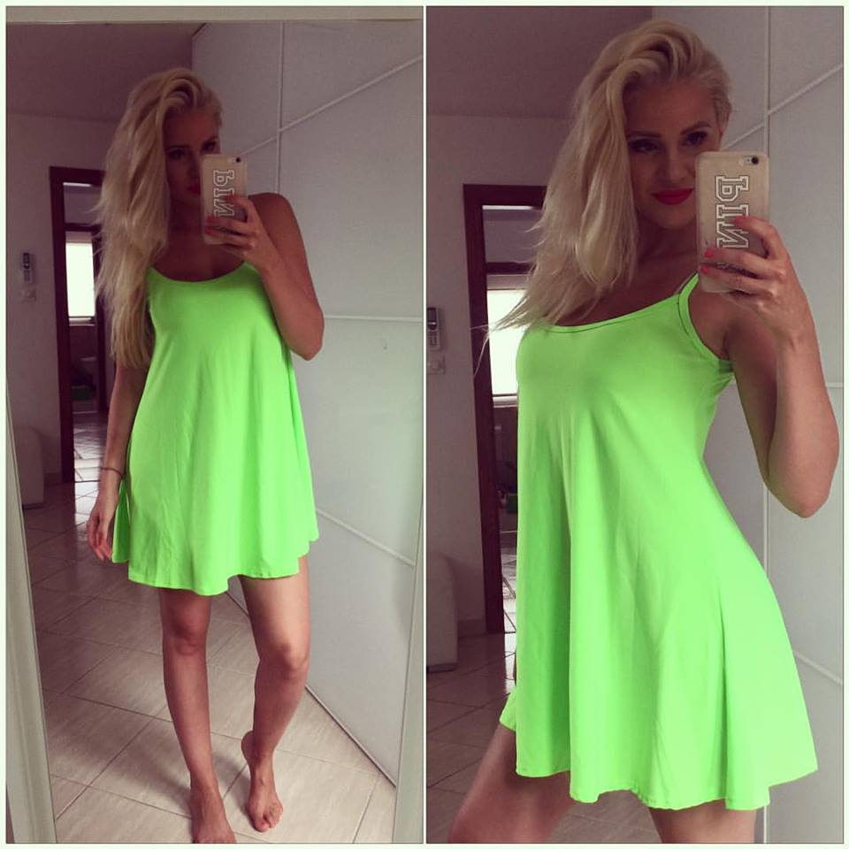 90db841cdd9 Výprodej - sleva - koktejlové šaty 36 - neon zelené
