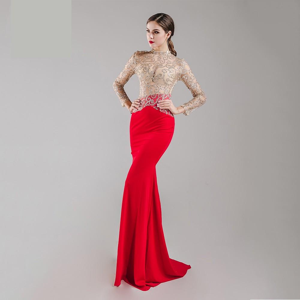 65a6d09f5df Luxusní sexy šaty - Kolekce diamond - červené s krajkou