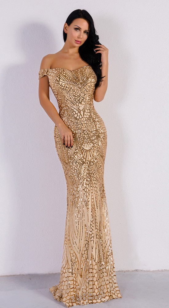 780ccac70232 Luxusní sexy šaty - Kolekce diamond - béžové 03