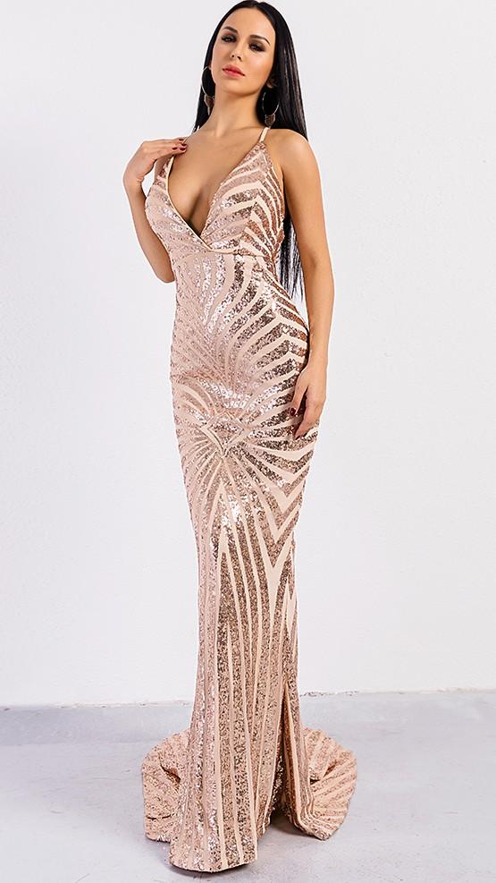 f58c7dfaa87a Luxusní sexy šaty - Kolekce diamond - ornament zlaté