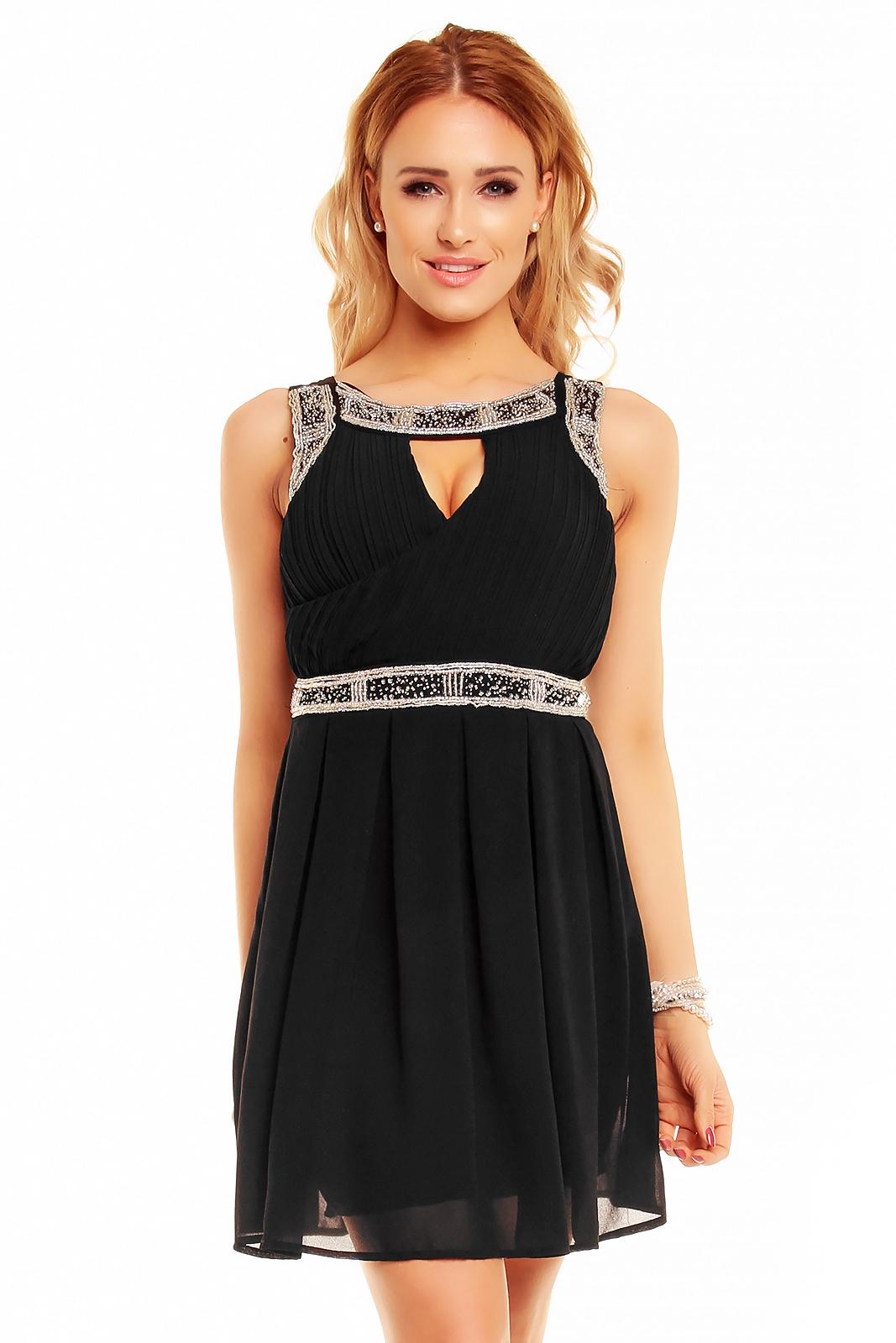 6db2d2b7eb2 Luxusní letní šaty - černé HS