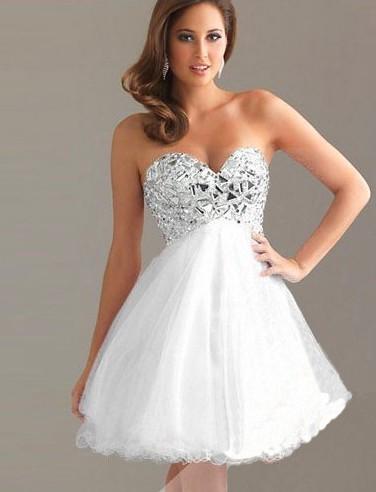 2a9c3fe05c5 Plesové šaty - Emily - bílé