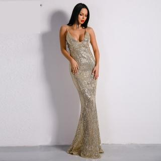 Luxusní sexy šaty - Kolekce diamond - zlaté 01 fe05f8163c