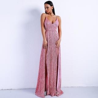 Luxusní sexy šaty - Kolekce diamond - růžové 01 dac2ae9e2f