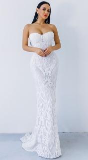 Luxusní sexy šaty - Kolekce diamond - bílé 01 eab9a27cc3