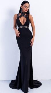 Luxusní sexy šaty - Kolekce diamond - černé 02 36bb984b06