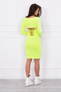 d4166fa5dd68 HK - Stylové šaty NEON s holými zády - více barev