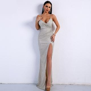 Luxusní sexy šaty Miss - Kolekce diamond - stříbrné 9244 f403a6fc3f