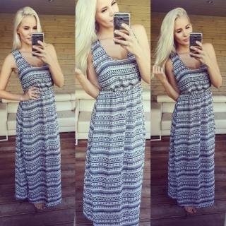 31eba36156a2 Krásné dlouhé šaty Madeira - šedé