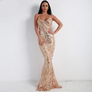 Luxusní sexy šaty - Kolekce diamond - zlaté 9314 f4e091a7dd