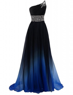 bb2795272f67 Elegantní šaty Lucy stínované - crystal zdobené modré